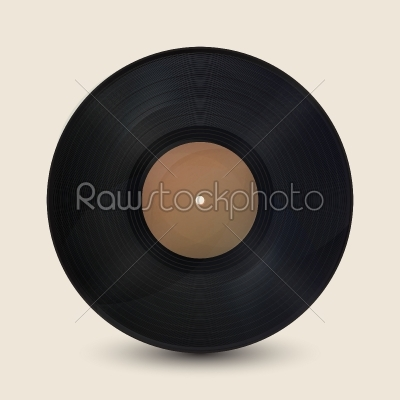 stock vector: realistic vintage record-Raw Stock Photo ID: 26406