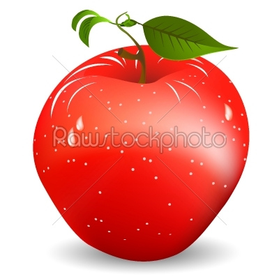 stock vector: red apple-Raw Stock Photo ID: 25099