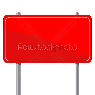 stock vector: red billboard-Raw Stock Photo ID: 25100