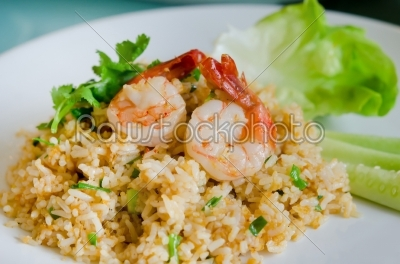 stock photo: rice and shrimp-Raw Stock Photo ID: 21554