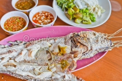 stock photo: salted grill snakehead fish-Raw Stock Photo ID: 32815