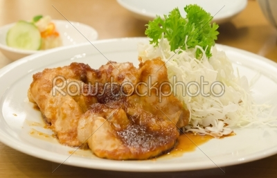 stock photo: sauteed pork with ginger sauce -Raw Stock Photo ID: 25984