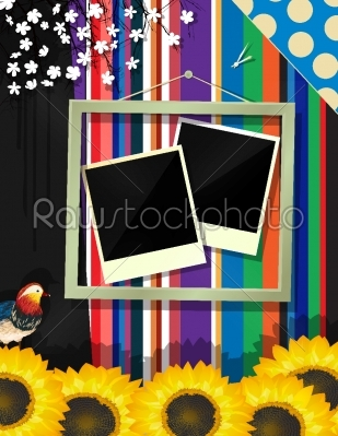 stock vector: scrapbook frame-Raw Stock Photo ID: 25216