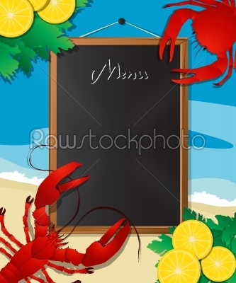 stock vector: sea food menu-Raw Stock Photo ID: 26302