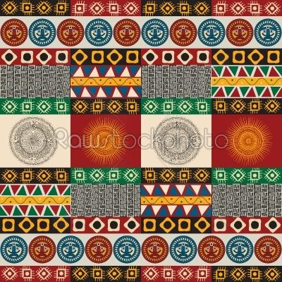 stock vector: seamless mayan aztec pattern-Raw Stock Photo ID: 36925