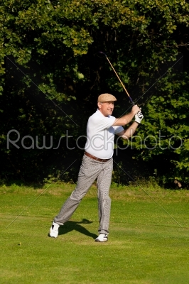 stock photo: senior golf player in summer-Raw Stock Photo ID: 39180