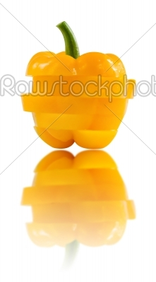 stock photo: slice of yellow  bell pepper-Raw Stock Photo ID: 19764