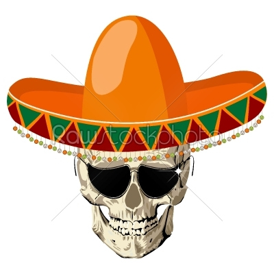 stock vector: sombrero skull-Raw Stock Photo ID: 24571