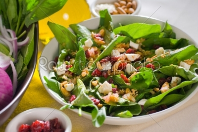 stock photo: spinach salad-Raw Stock Photo ID: 37707