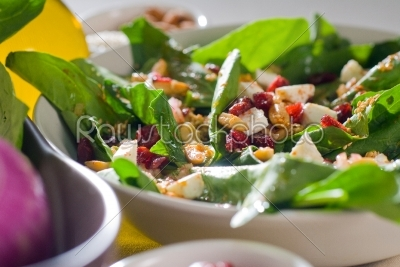 stock photo: spinach salad-Raw Stock Photo ID: 37714