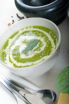 stock photo: spinach soup-Raw Stock Photo ID: 37729