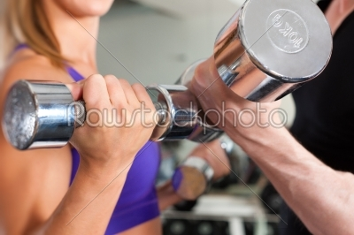 stock photo: sport  couple is exercising with barbell in gym-Raw Stock Photo ID: 43061