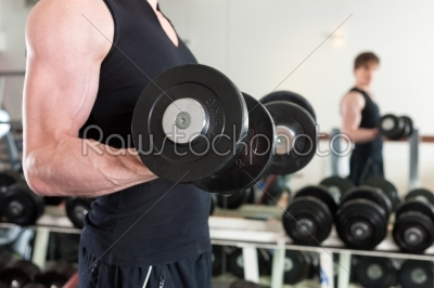 stock photo: sport  man is exercising with barbell in gym-Raw Stock Photo ID: 43063