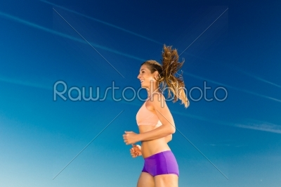 stock photo: sport and fitness  woman jogging-Raw Stock Photo ID: 45584