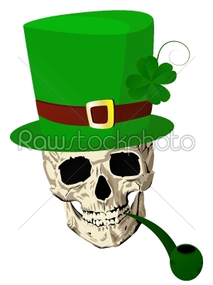 stock vector: stpatrick skull-Raw Stock Photo ID: 25346