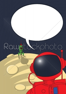 stock vector: stranded astronaut-Raw Stock Photo ID: 25299