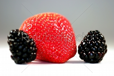 stock photo: strawberry blackberry-Raw Stock Photo ID: 38380