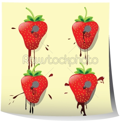 stock vector: strawberry-Raw Stock Photo ID: 25301