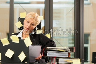 stock photo: stress in the office  multi tasking-Raw Stock Photo ID: 42738