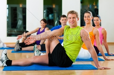 stock photo: stretching in fitness club-Raw Stock Photo ID: 41436