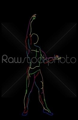 stock vector: stylized ballet dancer-Raw Stock Photo ID: 25321