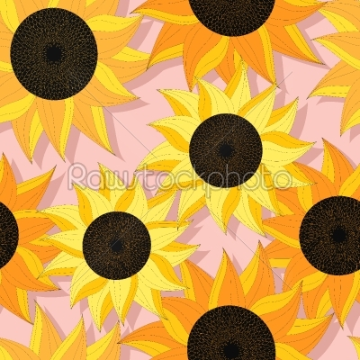 stock vector: sunflower pattern design-Raw Stock Photo ID: 25246