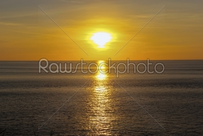 stock photo: sunset in the ocean-Raw Stock Photo ID: 30299