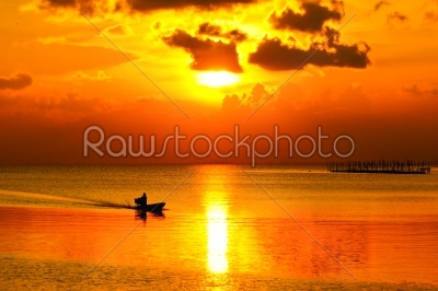 stock photo: sunset sky at songkhla lake thailand-Raw Stock Photo ID: 23247