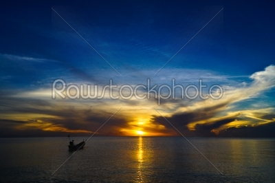 stock photo: sunset sky at songkhla lake thailand-Raw Stock Photo ID: 23258