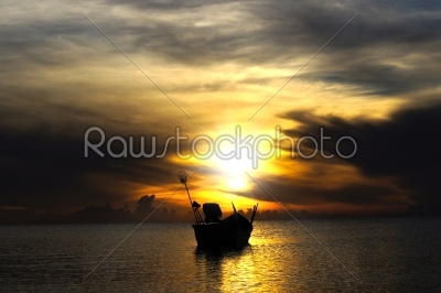 stock photo: sunset sky at songkhla lake thailand-Raw Stock Photo ID: 23259