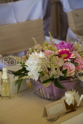 stock photo: tables decorated for a party or wedding reception-Raw Stock Photo ID: 28036