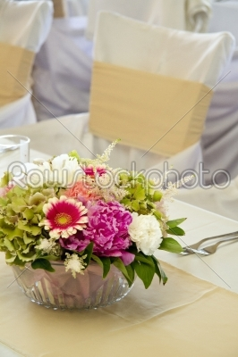 stock photo: tables decorated for a party or wedding reception-Raw Stock Photo ID: 28037