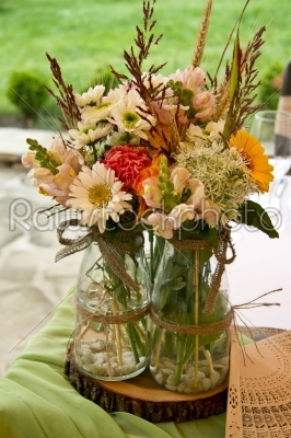 stock photo: tables decorated for a party or wedding reception-Raw Stock Photo ID: 28351