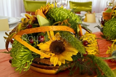 stock photo: tables decorated for a party or wedding reception-Raw Stock Photo ID: 28360
