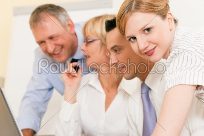 stock photo: teamwork  discussion in the office-Raw Stock Photo ID: 39222