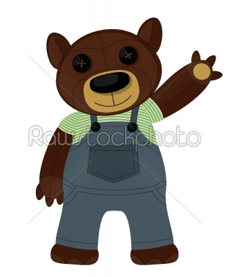 stock vector: teddy bear-Raw Stock Photo ID: 25545