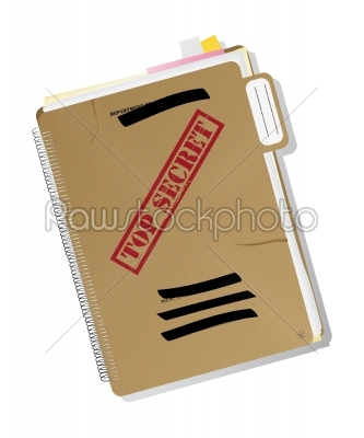stock vector: top secret folder-Raw Stock Photo ID: 25212