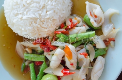 stock photo: top view spicy food-Raw Stock Photo ID: 23777