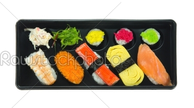 stock photo: top view sushi-Raw Stock Photo ID: 26514