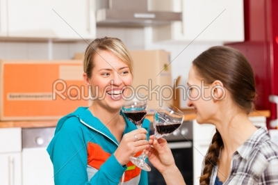 stock photo: two female friends moving in an apartment-Raw Stock Photo ID: 44151