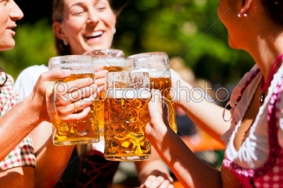 stock photo: two happy couple sitting in beer garden-Raw Stock Photo ID: 41970