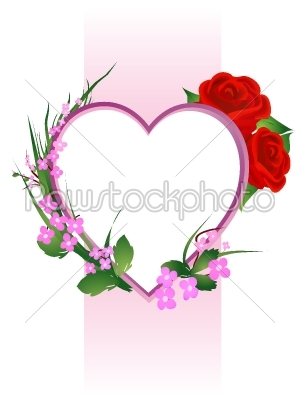 stock vector: valentines day floral composition-Raw Stock Photo ID: 25053