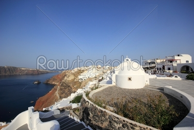 stock photo: village of oia at santorini island in the cyclades-Raw Stock Photo ID: 13263