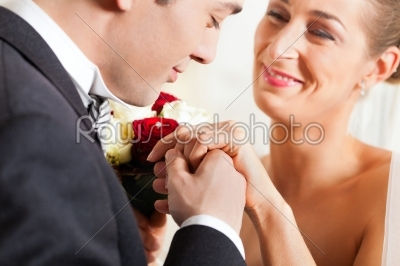 stock photo: wedding couple giving promise of marriage-Raw Stock Photo ID: 41629