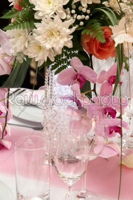 stock photo: wedding decorations with orchids-Raw Stock Photo ID: 28359