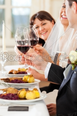 stock photo: wedding party at dinner or lunch-Raw Stock Photo ID: 41611