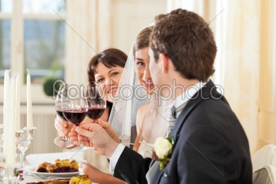 stock photo: wedding party at dinner or lunch-Raw Stock Photo ID: 41612