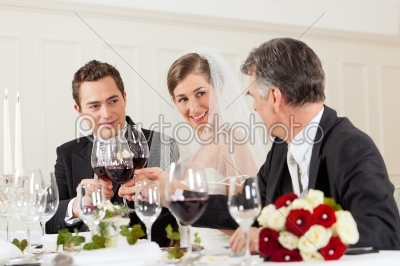 stock photo: wedding party at dinner-Raw Stock Photo ID: 41644
