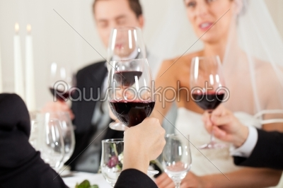 stock photo: wedding party at dinner-Raw Stock Photo ID: 41647
