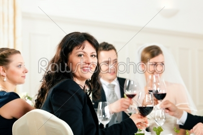 stock photo: wedding party at dinner-Raw Stock Photo ID: 41648